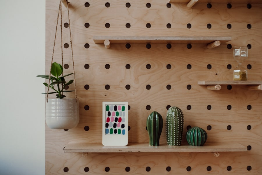 Shelves in co working space